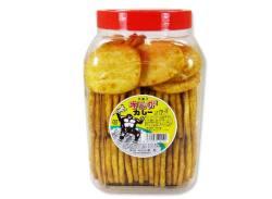 【駄菓子のまとめ買い・業務用せんべい系の駄菓子】 雷屋 キングカレーせんべい(70+2個)