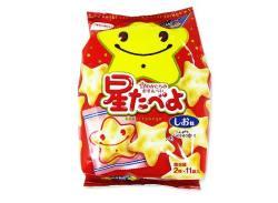 【お菓子バラ売り・おかきの大袋】栗山米菓 星たべよ しお味2枚入 (11袋入)