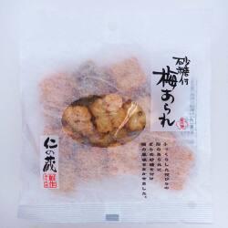 高橋製菓 仁の蔵 砂糖付 梅あられ 30g (12個入) お菓子 国産 銘菓 米菓 おかき ザラメ まとめ買い