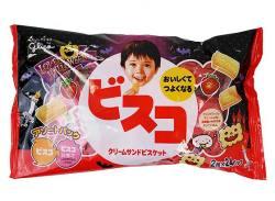 お菓子のまとめ買い・ビスケット・クッキー系のお菓子 グリコ ハロウィン ビスコアソート (2枚×24個)(12個入)