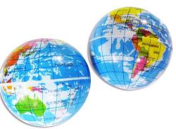 【景品玩具まとめ買い・スポーツ系のおもちゃ】地球儀PUボール(12個入)