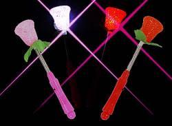 景品玩具まとめ買い・光るおもちゃのまとめ買い 光るフラワーバトン(24個入り)
