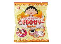 駄菓子のまとめ買い・ゼリー系駄菓子 杉本屋 7個入 ちびまる子ちゃん くだものゼリー みかん味(20個入)