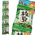 ギンビス カリッと枝豆 ノンフライ焼き 4P (12個入) 駄菓子 ノンフライ スナック お菓子 4連