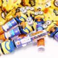 ハロウィン 光る ミニオン バッグチャーム ラムネ  (6個入) ハロウィンパッケージ おかし くじ引き パーティ 景品 駄菓子
