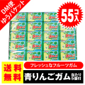 送料無料 ポッキリ 価格 マルカワ 青りんご フーセンガム 55個入+5個当 ポイント消化 外袋無 ゆうパケットDM便