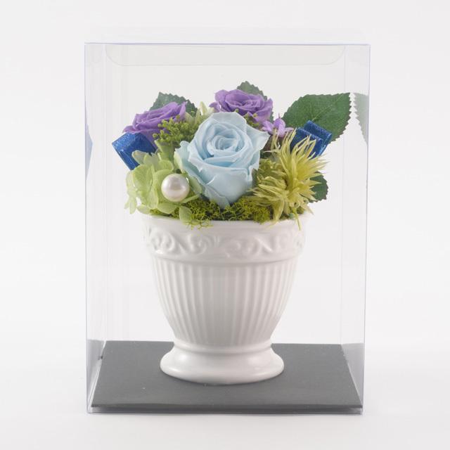 プリザーブドフラワー白陶器2500円A(プリザ)◆