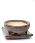 信楽焼鉢茶下皿小2013m