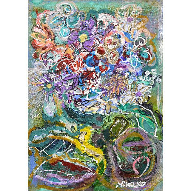 平林美奈子 絵画 私の側に飾られてⅡ ミクストメディア 2号