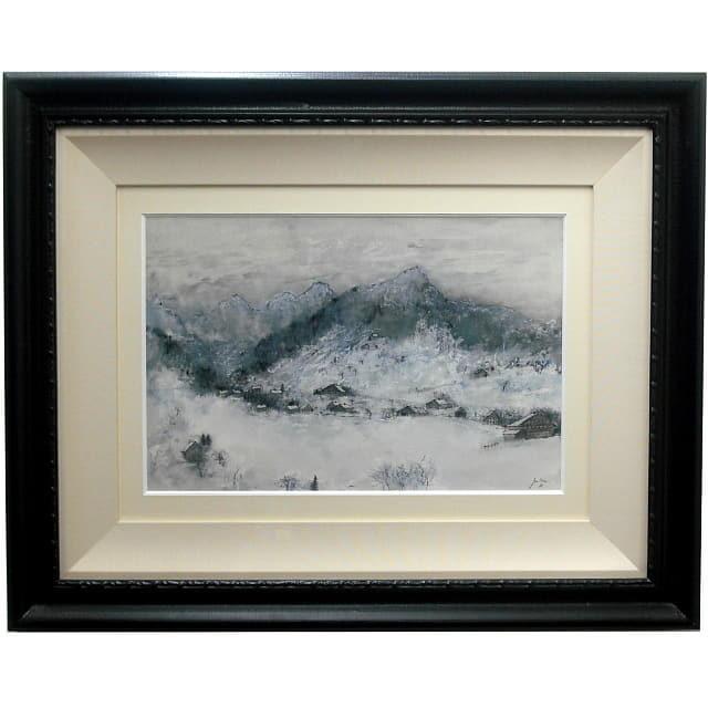 ベルナール・ガントナー 水彩8号 アルプスの雪