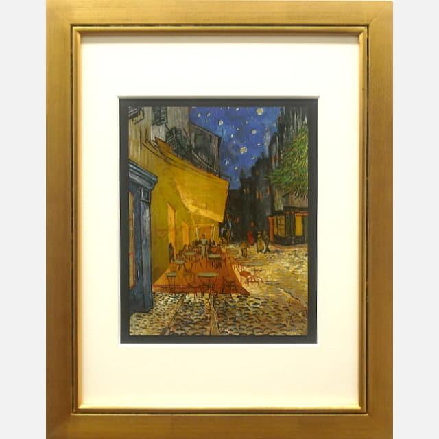ゴッホ 夜のカフェテラス メタル 作品サイズのイメージ