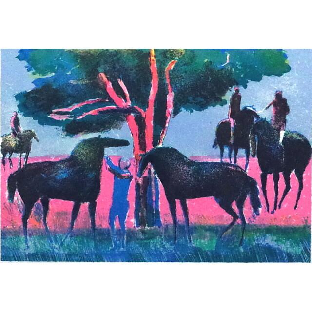 ポール・ギヤマン 絵画 ブローニュの森 オリジナル・リトグラフ