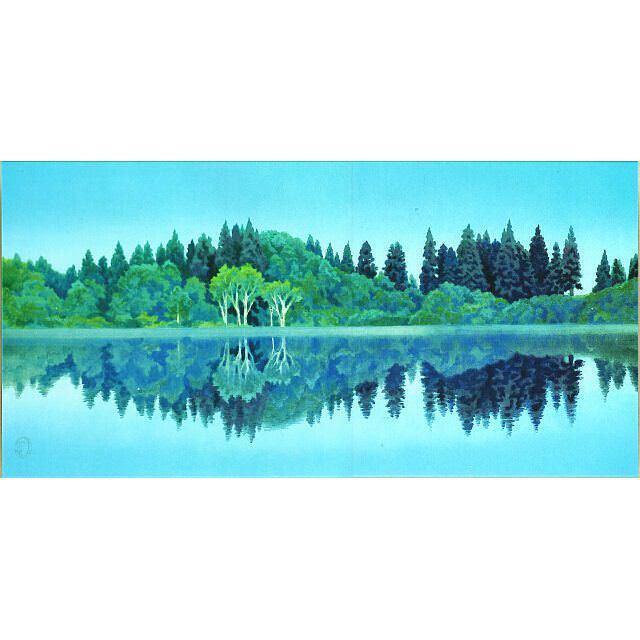 東山魁夷 静映 最高級複製画 彩美版(R)プレミアム