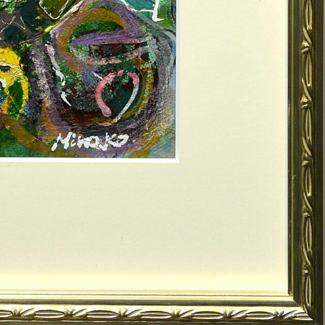 平林美奈子 絵画 私の側に飾られてⅡ ミクストメディア 2号 額縁デザイン