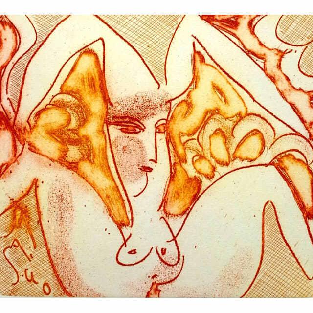 池田満寿夫(いけだますお) 銅版画 織部