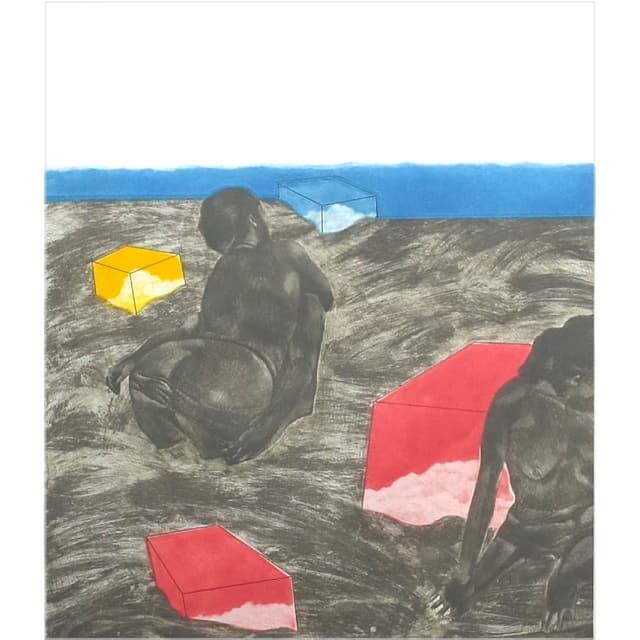池田満寿夫 版画 海辺の午後 1969年作