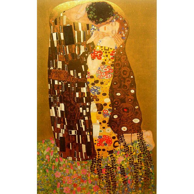グスタフ・クリムト(Gustav Klimt)「接吻(Kiss)」シルクスクリーン・特殊美術印刷【特別セール】