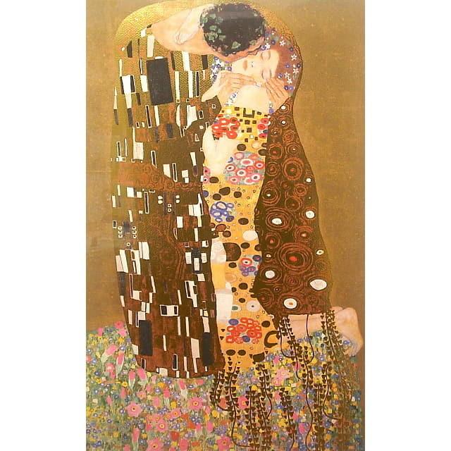 グスタフ・クリムト(Gustav Klimt) 「接吻(Kiss)」 ジクレ・シルクスクリーン