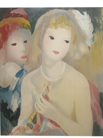 マリー・ローランサン リトグラフ 笛をもつ少女