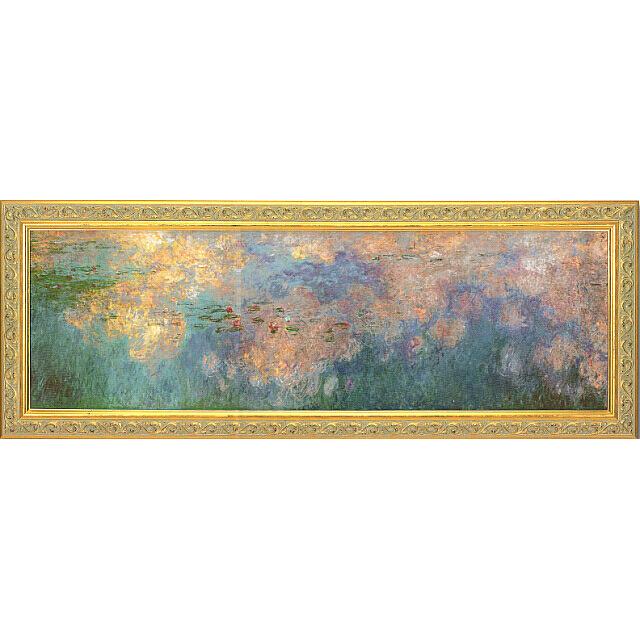 モネ 睡蓮、水のエチュード 雲 額付き複製画 オランジュリー美術館