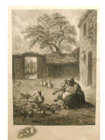 ジャン フランソワ・ミレー、ブラックモン 銅版画