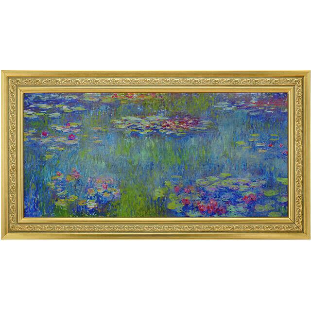 モネ 睡蓮の池、緑の反映 複製画 ビュールレ・コレクション正式承認
