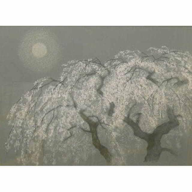 大山忠作 おおやまちゅうさく 夜桜 リトグラフ アートギャルリー日本ぶっくあーと