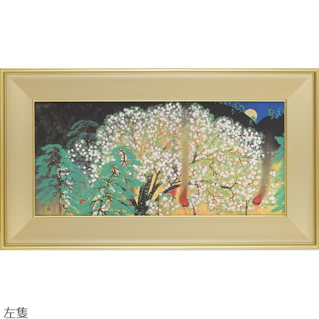 横山大観 よこやまたいかん 夜桜 左隻右隻 シルクスクリーン アートコロタイプ アートギャルリー日本ぶっくあーと