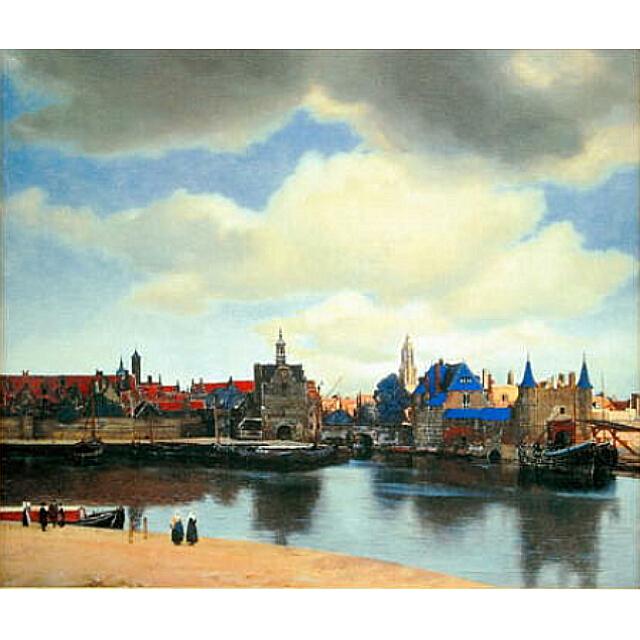 フェルメール 「デルフトの眺望」 複製画 画面