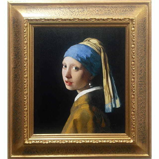ヨハネス・フェルメール「真珠の耳飾りの少女」レプリカ・額付き