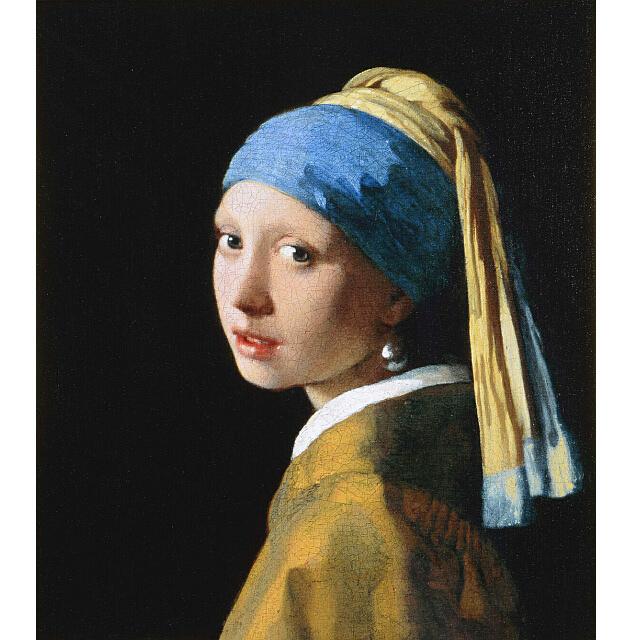 ヨハネス・フェルメール「真珠の耳飾りの少女」レプリカ   6号