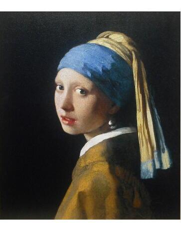 フェルメール 真珠の耳飾りの少女 複製画 完全復刻 マウリッツハイス美術館承認
