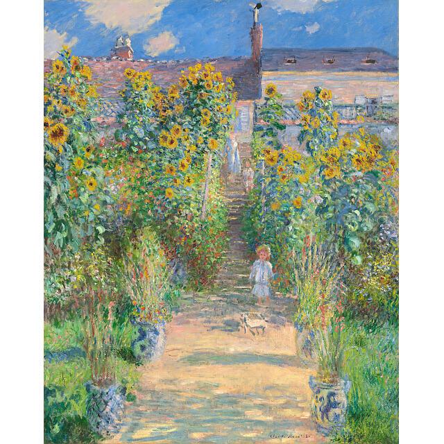 モネ 「ヴェトゥイユのモネの庭」 複製画 ワシントン・ナショナルギャラリー正式承認