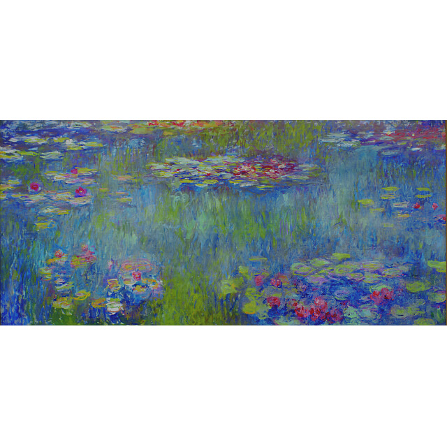 モネ 睡蓮の池、緑の反映 複製画 共同印刷 彩美版(R)