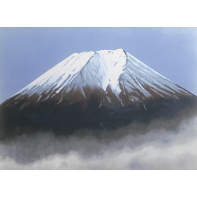 大山忠作 冨士 リトグラフ