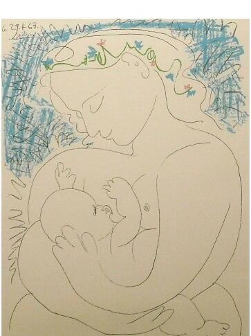 ピカソ 母子像 エスタンプ版画作品