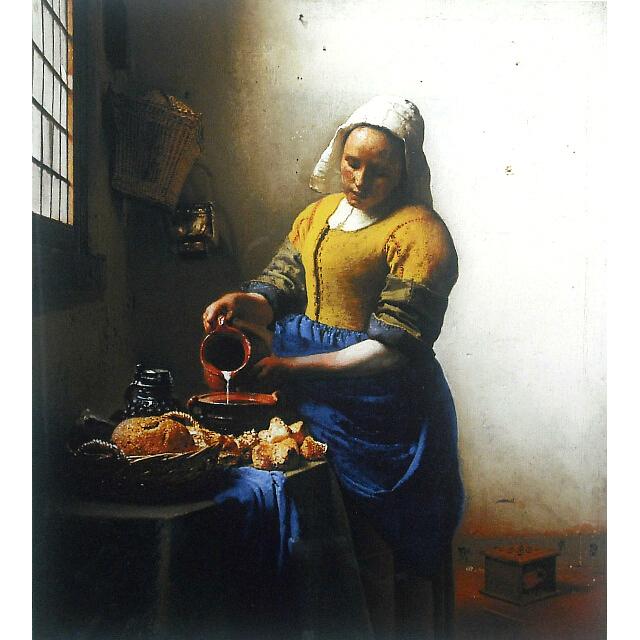 フェルメール 牛乳を注ぐ女 複製画 ジグレ