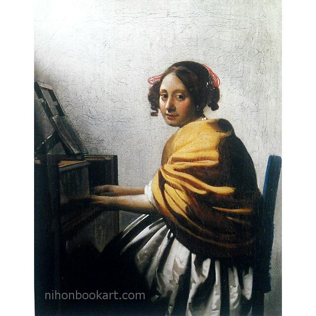フェルメール 「ヴァージナルの前に座る若い女」 複製画 画面