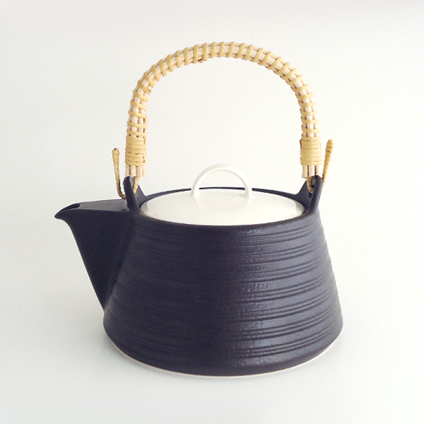 IH セラミック ケトル(土瓶)  ブラック(薬日本堂オリジナル)