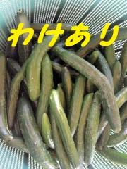 曲がっているけど味は同じ!福島県「二本松農園」産規格外きゅうり5kg 正規品の6割引き
