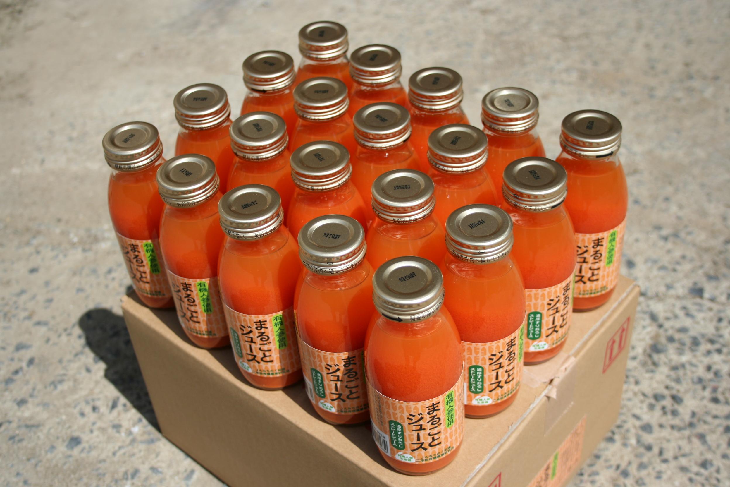 ケースで大人買い♪大内さんの有機にんじんジュース20本箱(送料込)