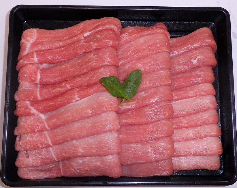 【3500円以上お買い上げで全国送料無料!】【福島のうまい肉ネット販売!】国産豚肉うす切り(もも)100g(冷凍)~こだわり肉屋「桜八」~18
