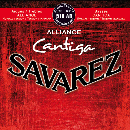 サバレス・アリアンス カンティーガ 赤/510AR セット弦