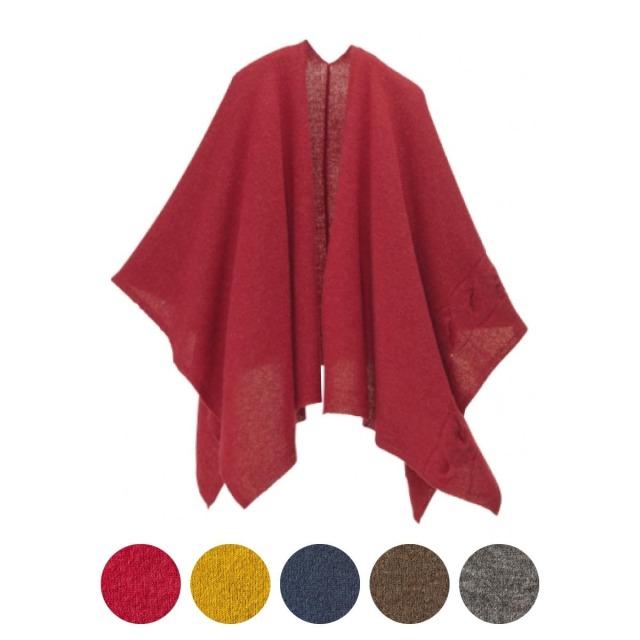 [mino]tate ベビーアルパカ&ウール 大きなケーブル柄(全5色)[184-08-01]