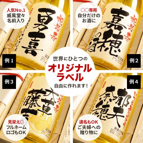 米寿祝いの名入れ酒のラベルについて