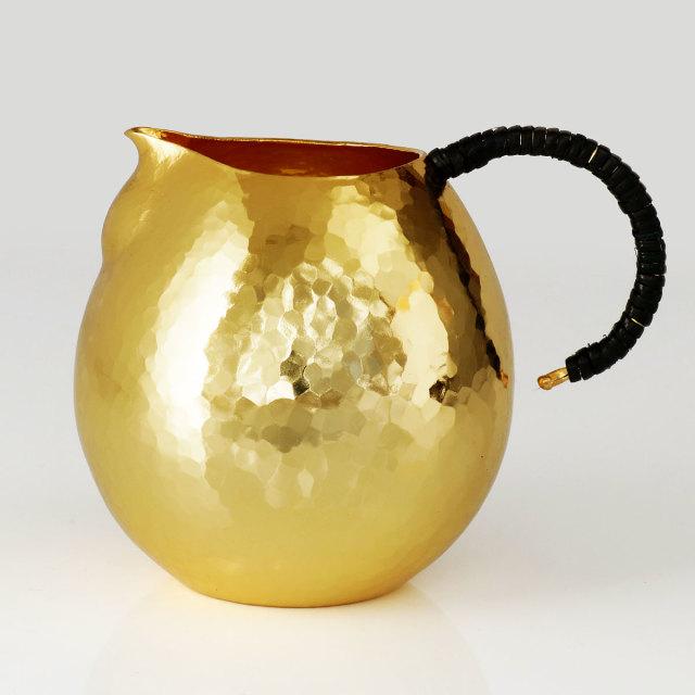 清雅堂 鎚起銅器 ちろり 金鍍金