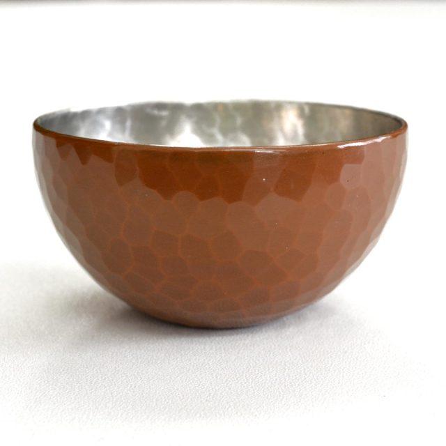 [清雅堂]鎚起銅器|酒器|手作り銅器「ぐい呑み」宣徳色