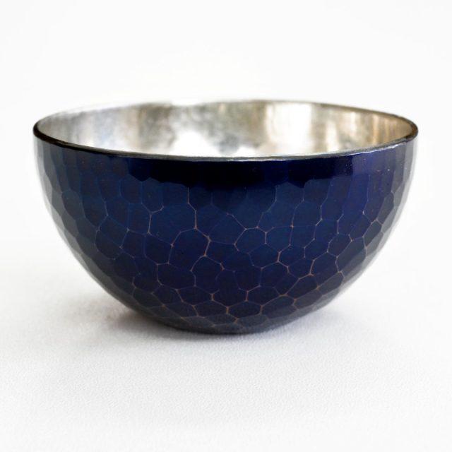 [清雅堂]鎚起銅器|酒器|手作り銅器「ぐい呑み」紫銅色