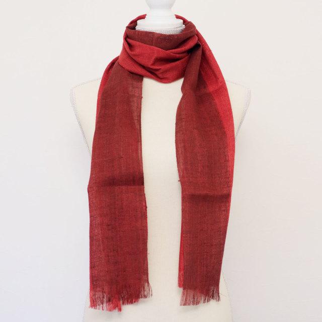 ストール 紅 絹真綿 シルク