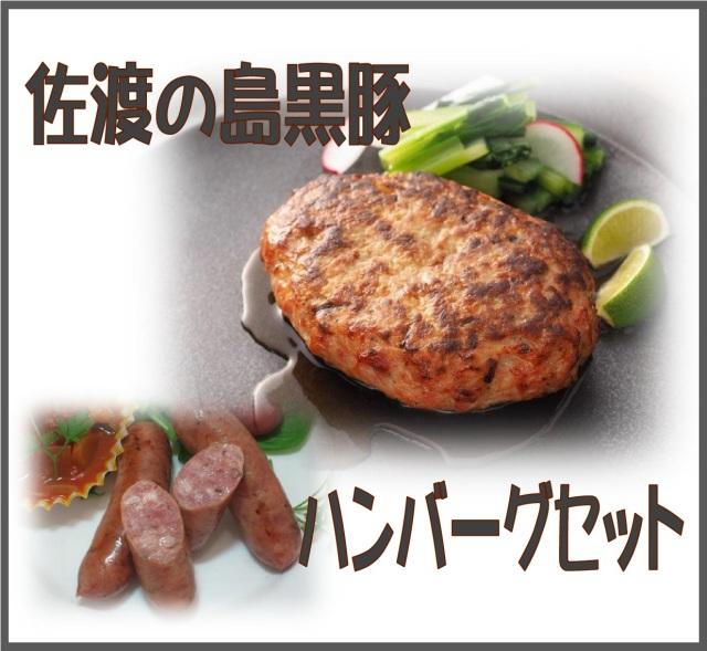 佐渡の島黒豚100%のハンバーグ詰め合わせ
